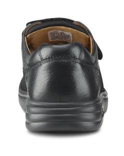 Dr. Comfort Annie X Double Depth Women's Diabetic Shoe, Black - Back View | Dahl Medical Supply