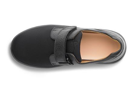 Dr. Comfort Annie X Double Depth Women's Diabetic Shoe, Black - Top View | Dahl Medical Supply