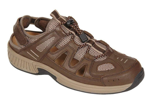OrthoFeet Men's Alpine Brown Diabetic Therapeutic Orthotic Sandals - Main Image