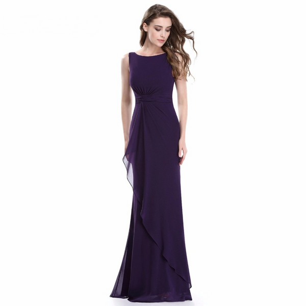 Long Mermaid Purple Evening Dress