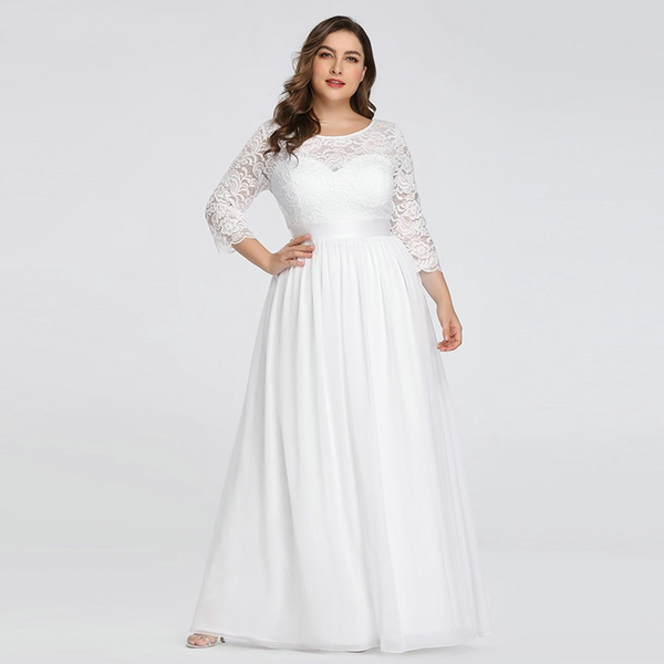 Elegant Empire Waist Wedding Dress with Sleeves