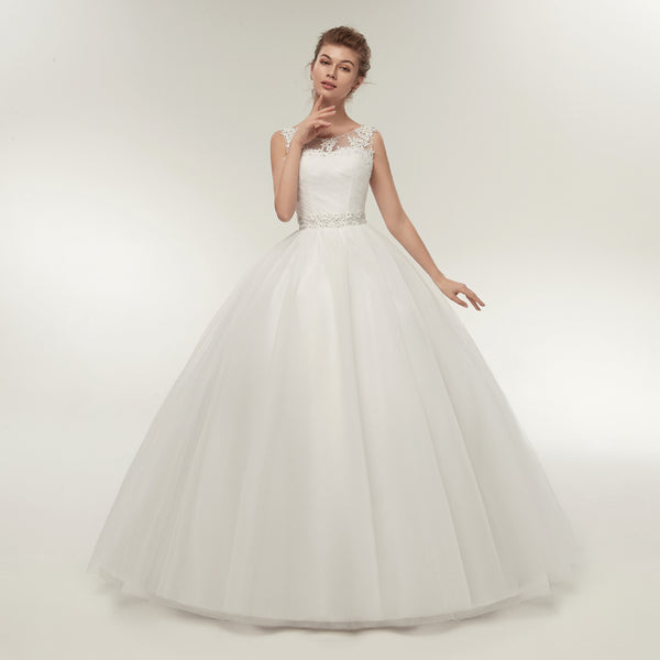 Ball Gown Wedding Dress with High Neck