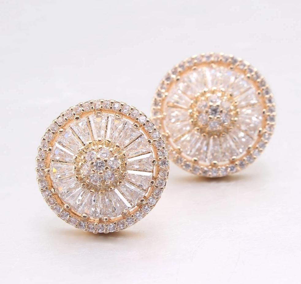 Earrings with cubic zirconia