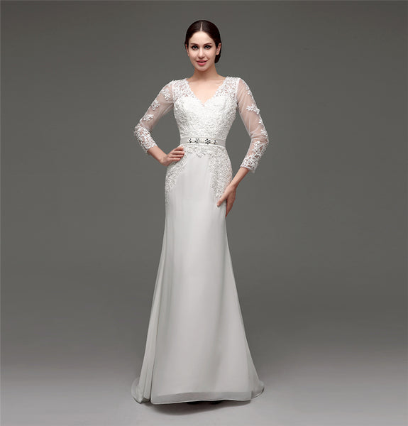 Mermaid Wedding Dress with Long Sleeves