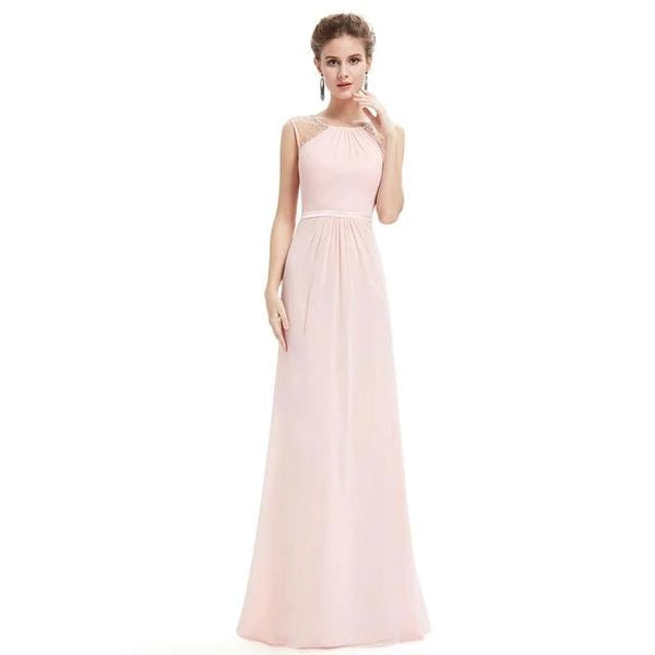 Elegant High-Neck Evening Dress
