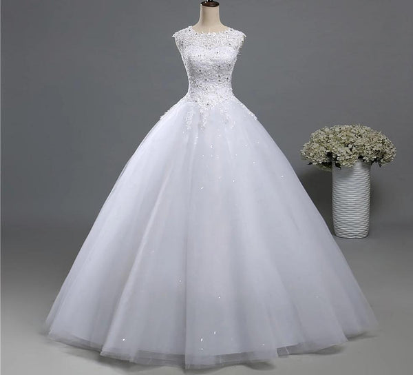 A-line Wedding Dress with Bateau Neckline