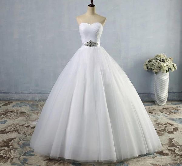 Wedding Dress with Draped Sweetheart Bodice