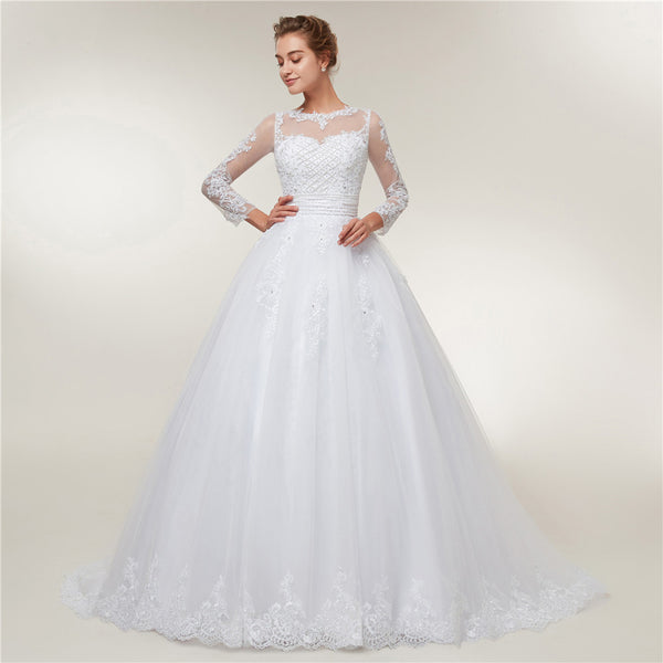 Transformer Wedding Gown (a short wedding dress + a detachable skirt)