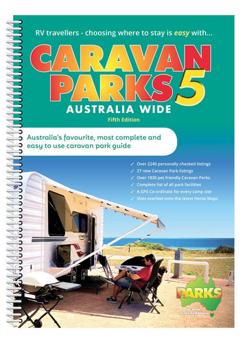 Caravan Parks Australia Wide Book - Spiral Bound - 5th Edition 2019