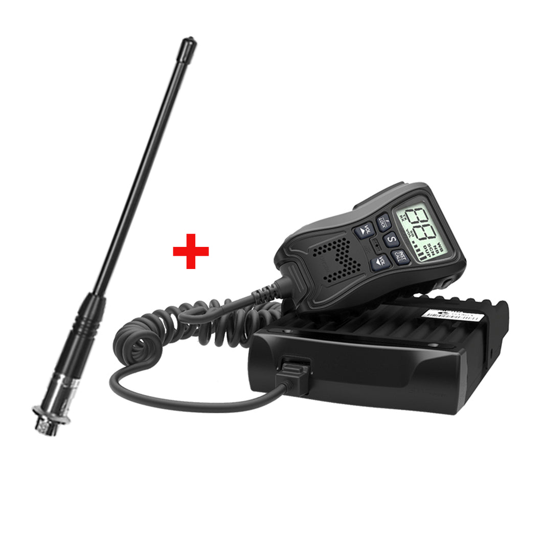 Crystal Mobile 5W Hideaway In-Car UHF Radio with Uniden Antenna