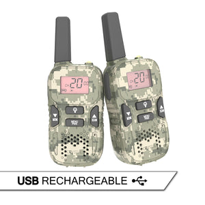 Crystal Mobile Rechargeable 0.5W Handheld UHF Radio Twin Pack