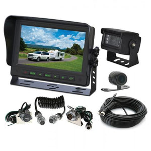 Gator GT70SDTK Commercial Grade Dual Reversing Camera and 7-inch Monitor Kit with Trailer Connection Cables