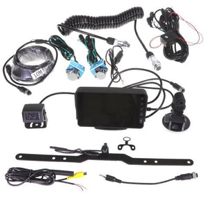 "GX5TRKT  5"" DASH/WINDSCREEN MOUNT HIGH RESOLUTION DISPLAY DUAL REVERSE CAMERA TRAILER KIT"