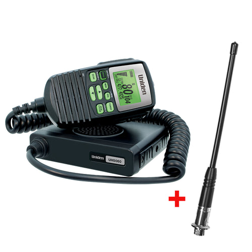 Uniden 5W Hideaway In-Car UHF Radio with Antenna