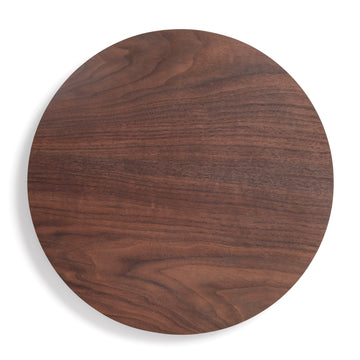 "14"" Round Wood Board - Walnut"