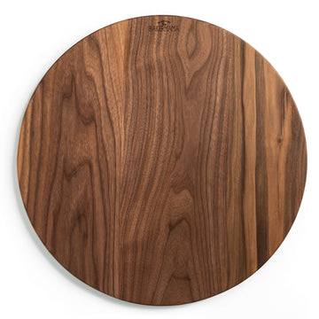 "20"" Round Wood Board - Walnut"