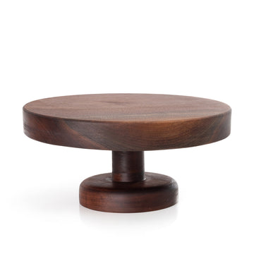 Wood Cake Stand - Walnut