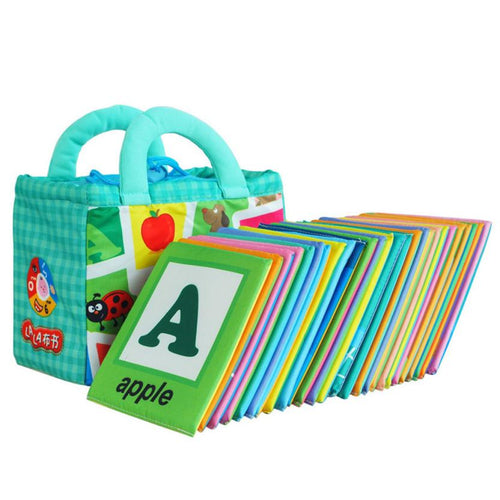 26 Letters Cloth Card with Cloth Bag- Early Education Toy -Free shipping