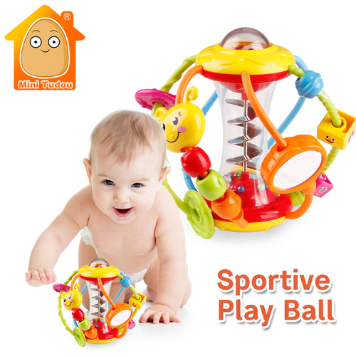 Baby Rattle Activity Ball - Educational Toys For Babies- Grasping Ball- Free shipping