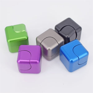 Fidget Cube ABS Dice -Electroplating- Finger Rotating -Gyro Decompression Toy - Free shipping