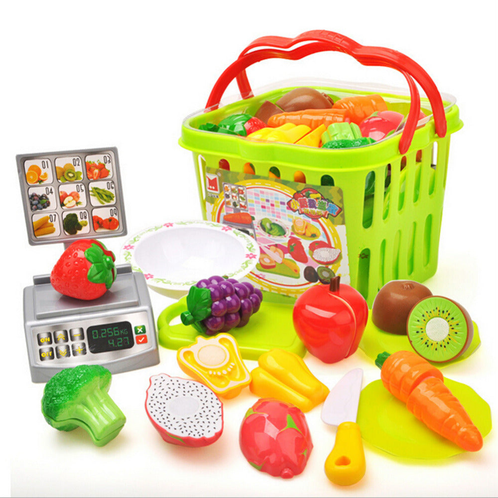 Complete Kitchen Toy Vegetables and Fruits - Pretend play - Free shipping