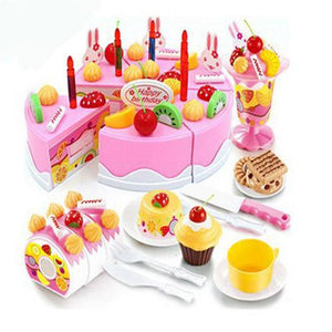 75 pieces Pretend play cutting ad decorating Birthday cake- Free shipping
