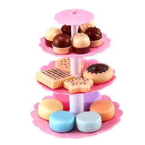 Cake tower and biscuits tea time - Pretend play - Free shipping