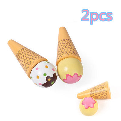 Wooden icecream set Pretend Play- Great quality Kitchen Toys -Free shipping