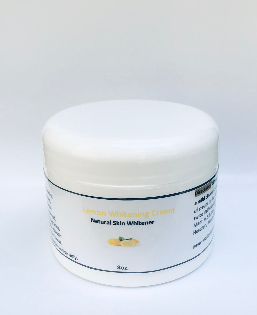 Lemon whitening cream