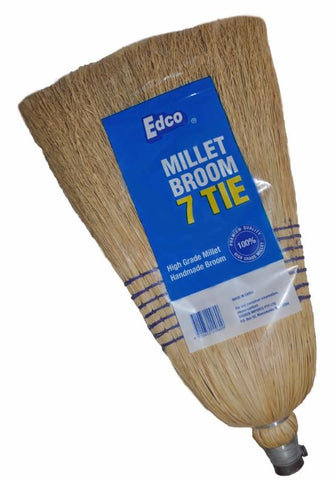 EDCO MILLET BROOM WITH HANDLE – 7 TIE