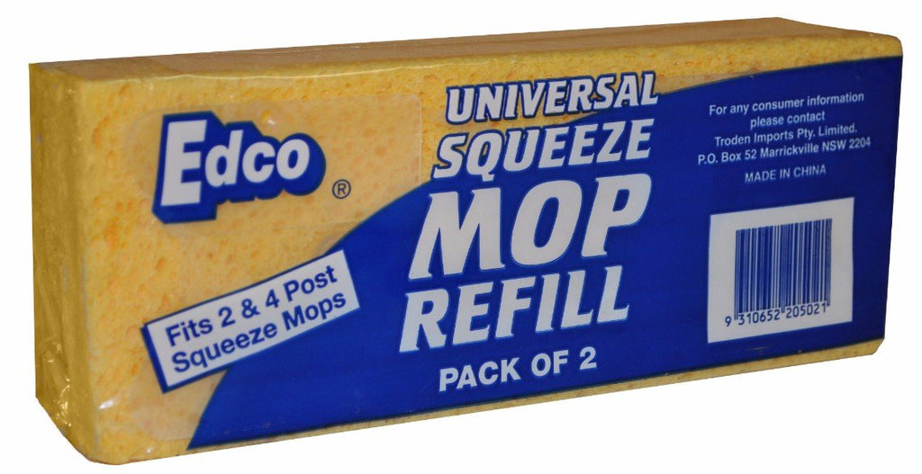EDCO UNIVERSAL SQUEEZE MOP REFILL 2PK