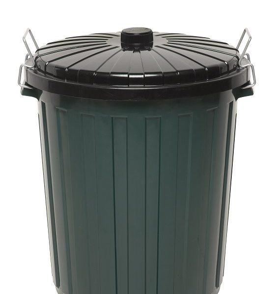 EDCO PLASTIC GARBAGE BIN WITH LID 55L