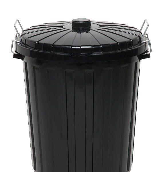 EDCO PLASTIC GARBAGE BIN WITH LID 73L
