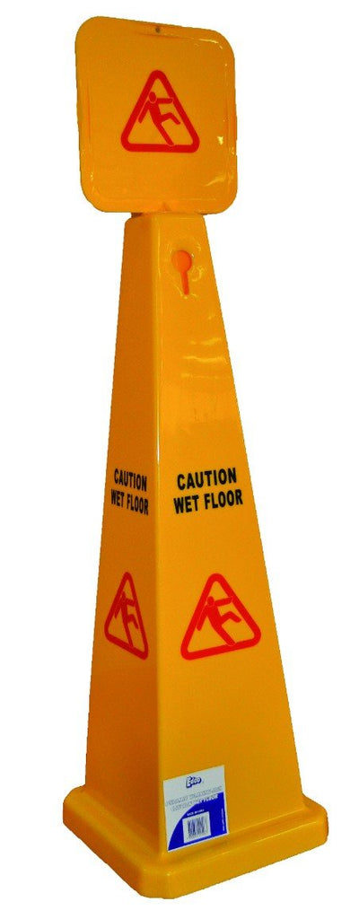 EDCO LARGE PYRAMID CAUTION WET FLOOR SIGN
