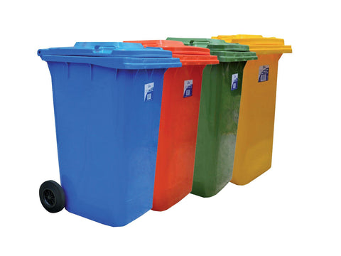 EDCO HEAVY DUTY BIN WITH WHEELS 240L