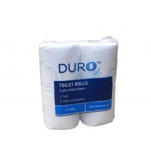 Duro Toilet Paper Roll 250 Sheet 4 Pack
