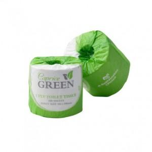 Caprice Green Toilet Paper Roll 400 Sheet Individually Wrapped