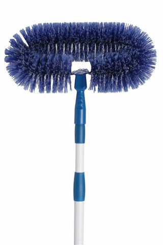 EDCO DELUXE FAN BRUSH WITH EXTENSION HANDLE