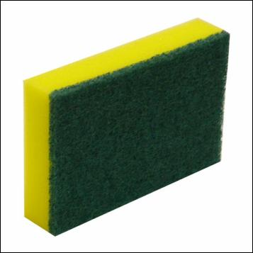 Commercial Green and Gold Sponge Scourer