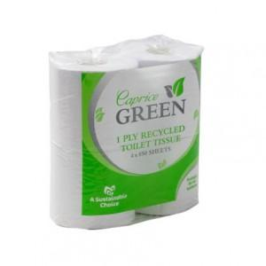 Caprice Green Toilet Paper Roll 850 Sheet 4 Pack