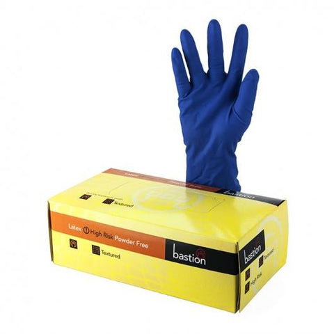 Bastion Latex Hi-Risk P/F Large Gloves
