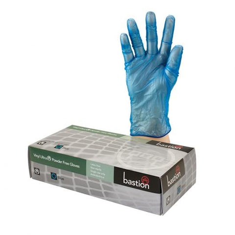 Bastion Vinyl Ultra P/F Blue Large Gloves