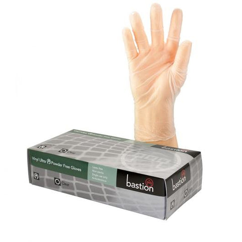 Bastion Vinyl Ultra P/F Clear Large Gloves