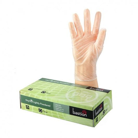 Bastion Vinyl L/P Clear Large Gloves