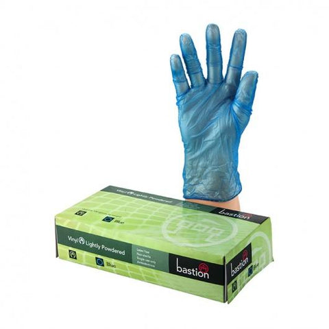 Bastion Vinyl L/P Blue Large Gloves