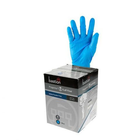 Progenics Nitrile P/F Blue Gloves Medium (9cm)
