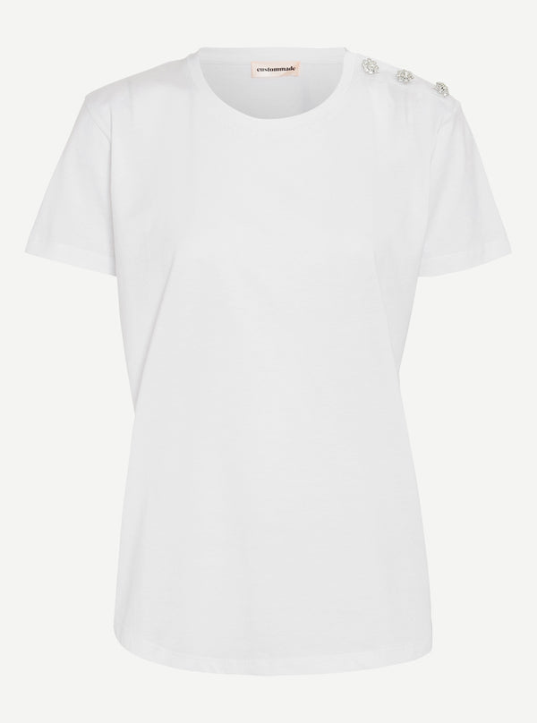 Custommade Molly Crystal T-shirt 001 Bright White