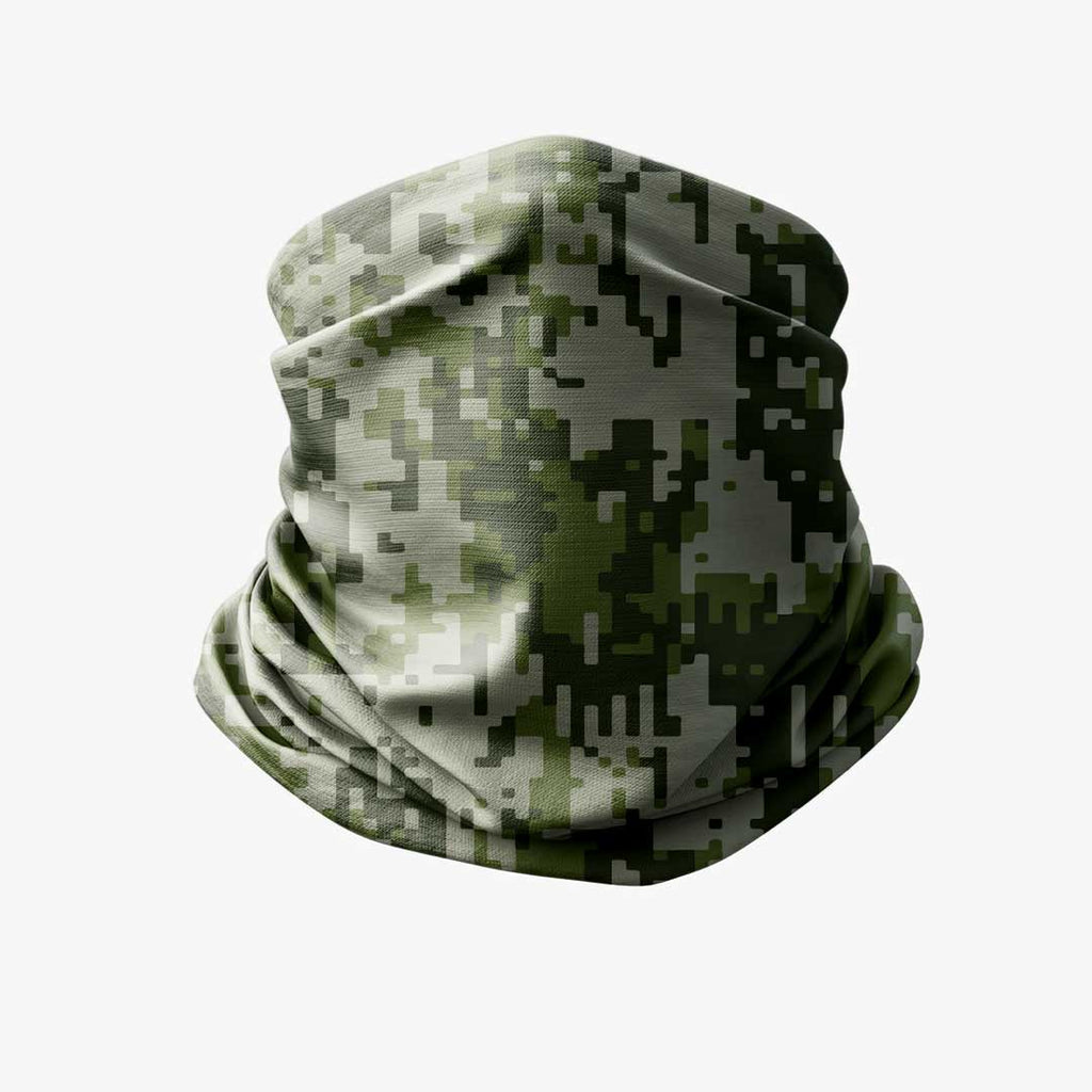 Digital Camouflage bandana, buff green liratech.eu