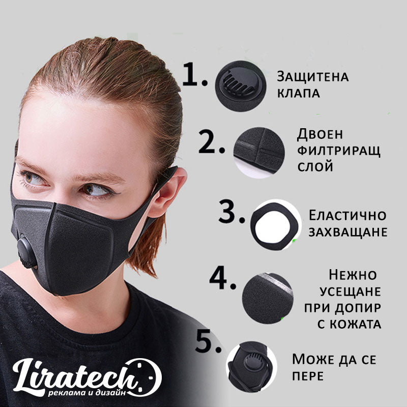 Protective mask with valve