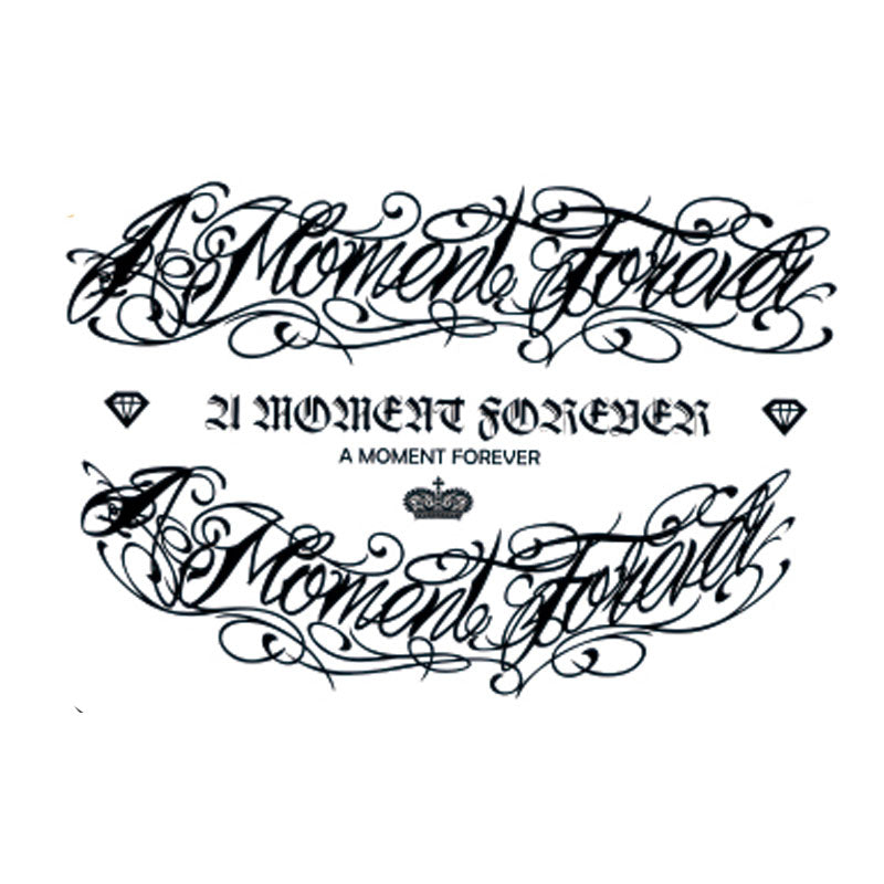 """A moment forever"" temporary tattoos - medium"